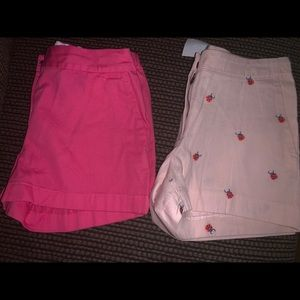 Other - Girls size 12 shorts- 2 pairs one NWT
